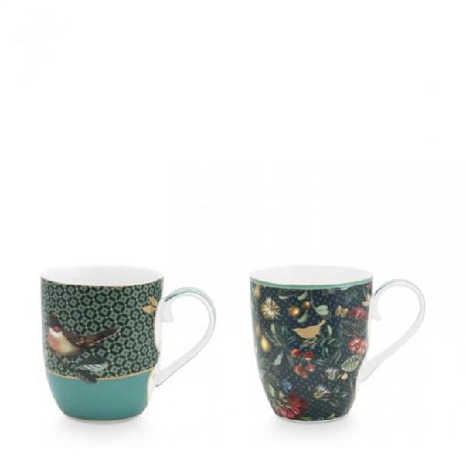 Set/2 Mugs Small Winter Wonderland 145ml