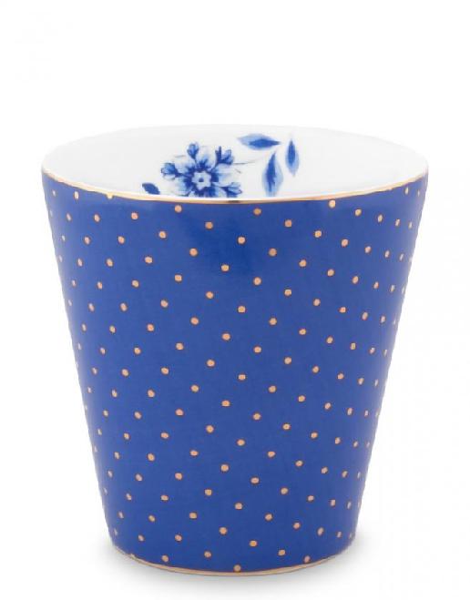 Mug Small without Ear Royal Dots Blue 230ml