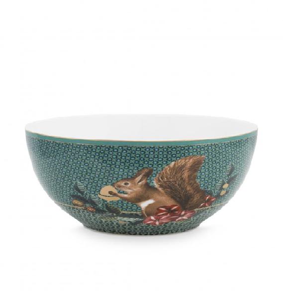 Bowl Winter Wonderland Squirrel Green 15cm /6