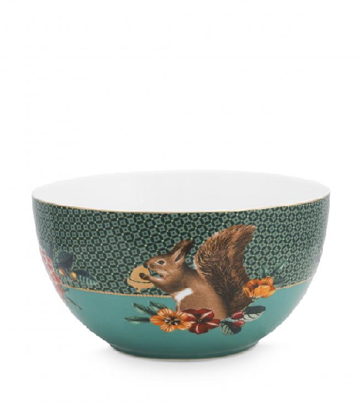 Bowl Winter Wonderland Squirrel Green 18cm /2