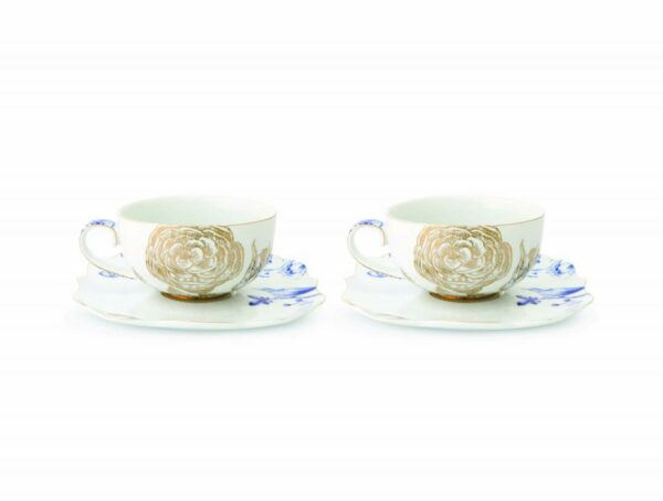 Set/2 Cups & Saucers Royal White