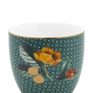Egg Cup Winter Wonderland Ladybug Green