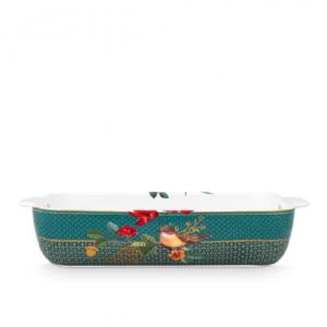 Baking Dish Rectangular Winter Wonderland Squirrel Green 27.5x18.5x6.5cm /1