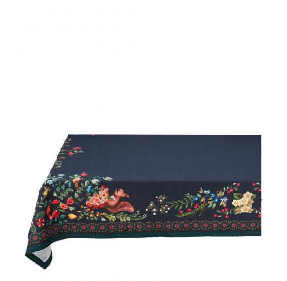 Table Cloth Winter Wonderland Overall Dark Blue 150x300cm