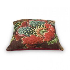 Cushion Poppy Stitch Burgundy