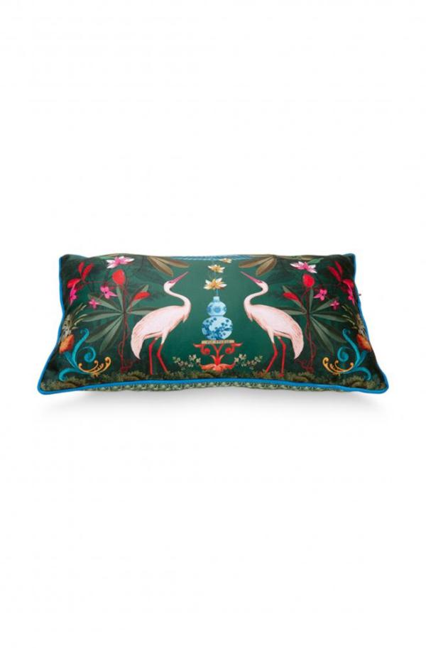 Cushion Heron Homage Green 50x30cm