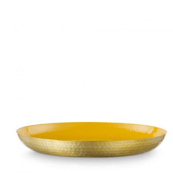 tray enamelled yellow 50cm