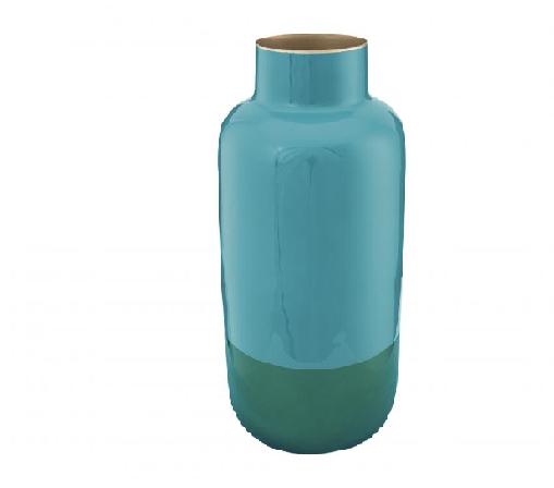Vase Metal Two Tone Green 29cm