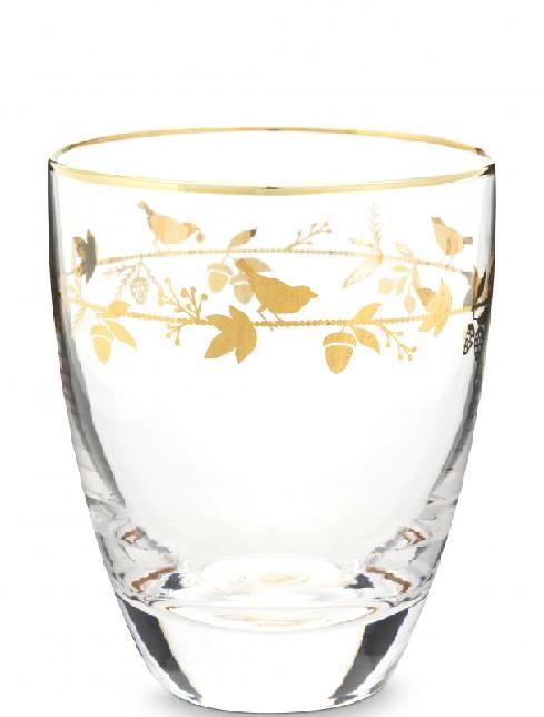 Water Glass Winter Wonderland Gold 360ml
