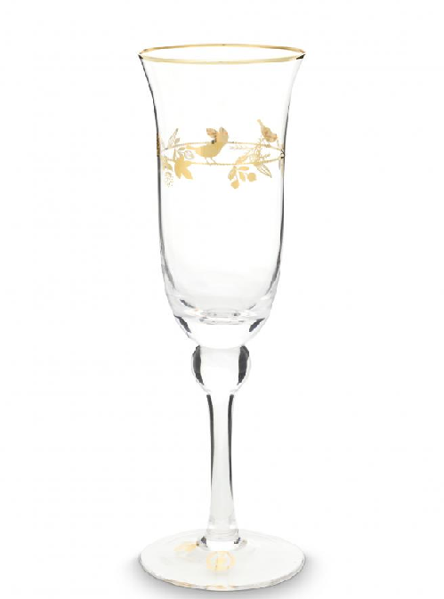 Champagne Glass Winter Wonderland Gold 220ml /6