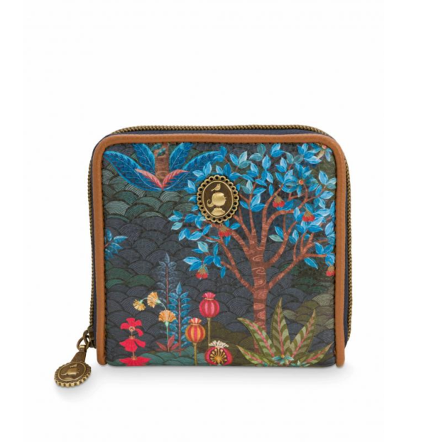 Wallet Pip Garden Blue 11.5x11.5x2.5cm