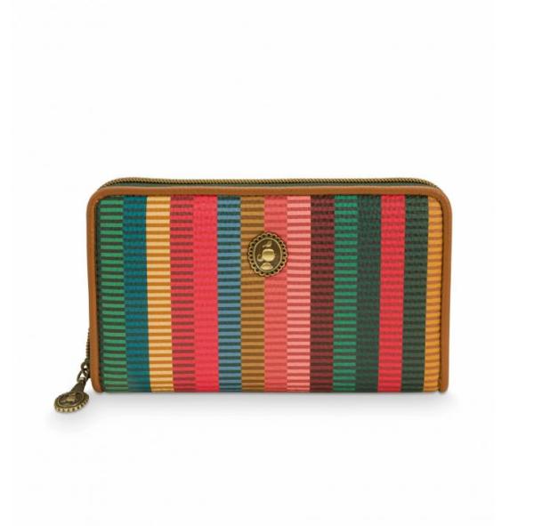 Wallet Jacquard Stripe Multi 18x11x3cm