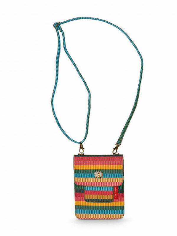 Phone Bag Jacquard Stripe Multi 11x18x1cm
