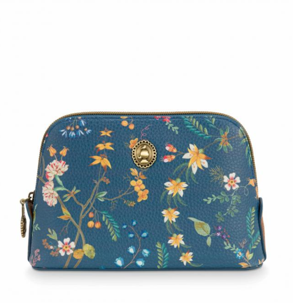 Cosm. Bag Triangle Small Petites Fleurs Dark Blue