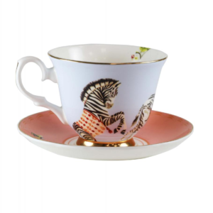 Yvonne Ellen Teacup & saucer 250ml, Carnival Zebra, giftbox /1