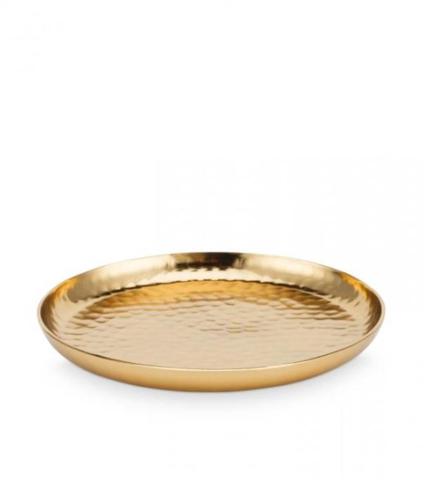 Plate Metal Gold 22cm