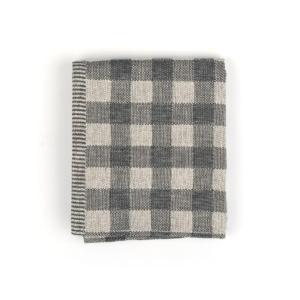 Tea Towel Bunzlau Check 65x65cm, black