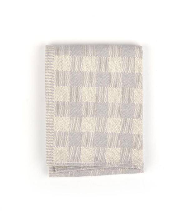 Tea Towel Bunzlau Check 65x65cm, grey