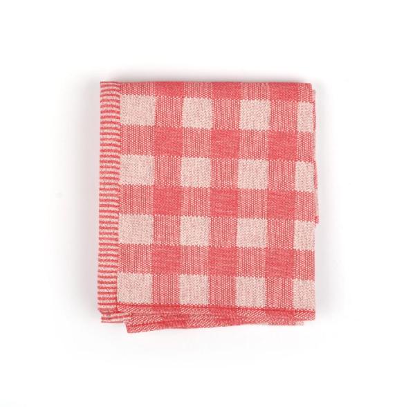 Tea Towel Bunzlau Check 65x65cm, red