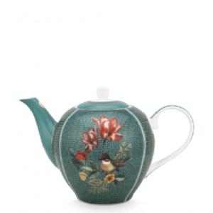 Tea Pot Large Winter Wonderland Squirrel Green 1.6ltr