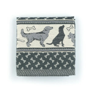 Kitchen Towel Bunzlau Dogs 53x60cm, black