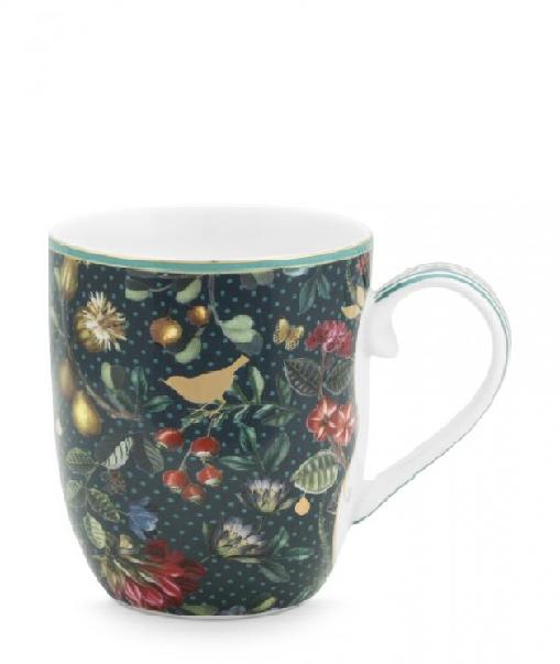 Mug Large Winter Wonderland Overall Dark Blue 350ml PIP