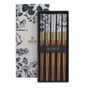 Chopstick Set/5 pair + 5 rests, giftbox