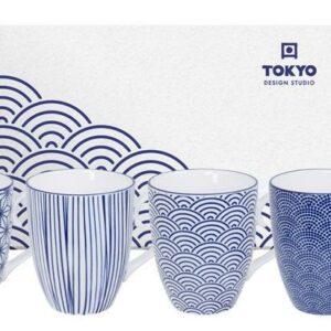 Nippon Blue Mug Set 4-pcs, 380ml, giftbox