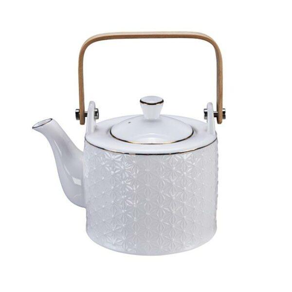 Nippon White Teapot 0.8L Star