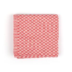 Tea Towel Bunzlau Small Check 65x65cm, red