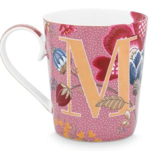 Alphabet Mug Floral Fantasy Pink M