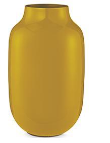 Mini Vase Oval Yellow 14cm