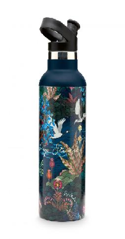 Water Bottle Pip Garden Dark Blue