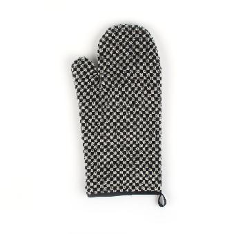 Oven Glove Bunzlau Small Check 37x20cm, black