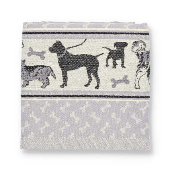 Tea Towel Bunzlau Dog 65x65cm, grey