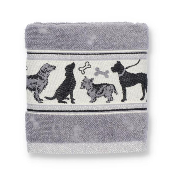 Kitchen Towel Bunzlau Dog 53x60cm, grey