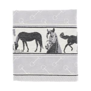 Tea Towel Bunzlau Horse 65x65cm, grey