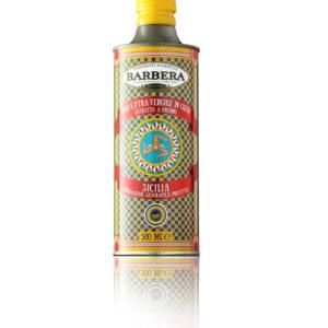 BARBERA Olijfolie in TIN 500 ml Geel
